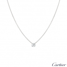Cartier White Gold Diamond Necklace 0.80ct E/VS2